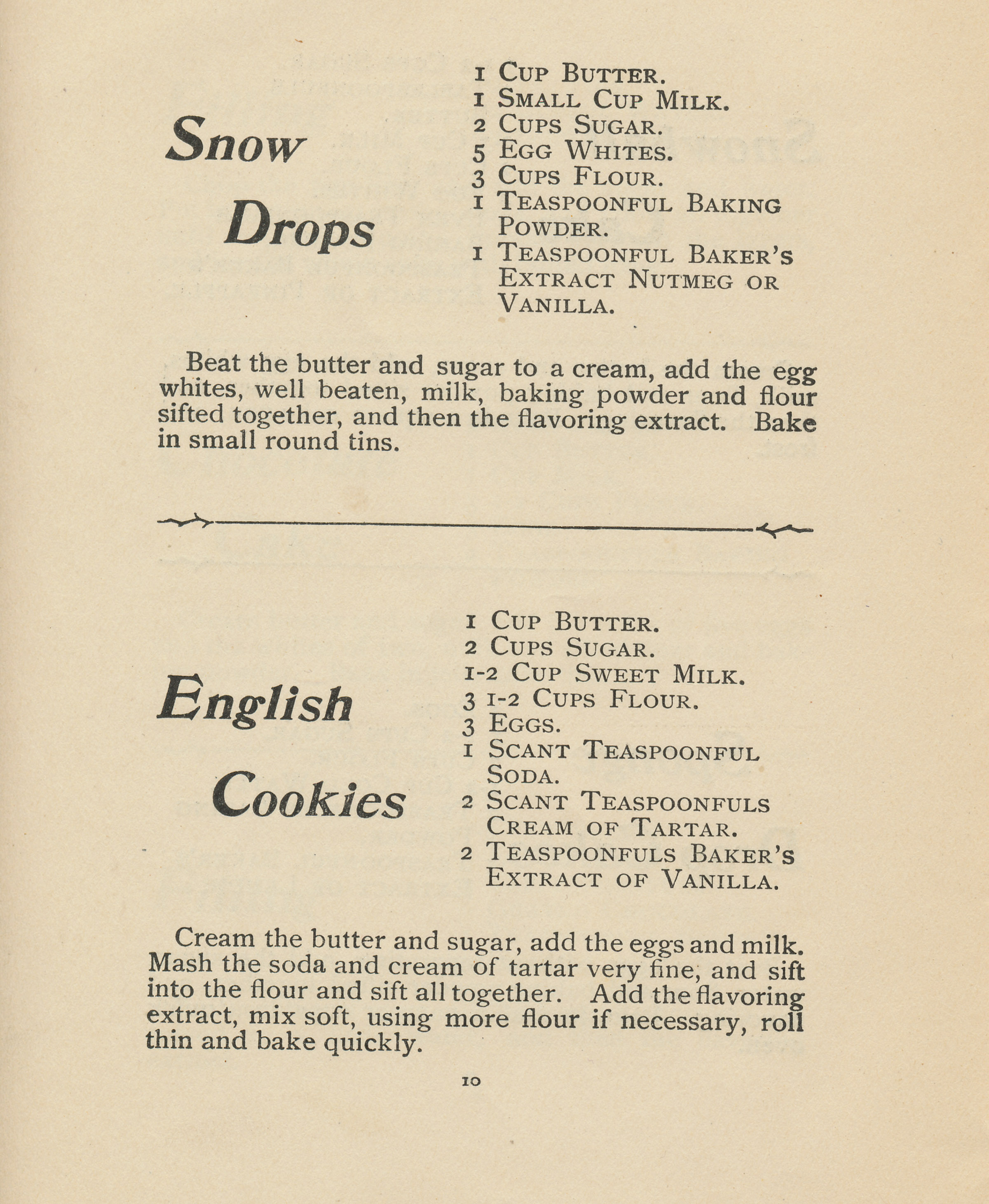 From a pamphlet produced by the Baker Extract Company (year unknown, 19?)