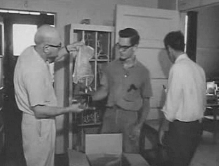 Moving out the chemistry lab, Bailey's, August 1964.