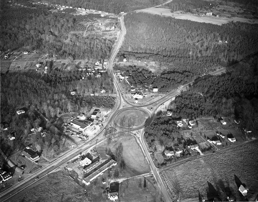 Aerial Photograph of Fairfax Circle, 1953