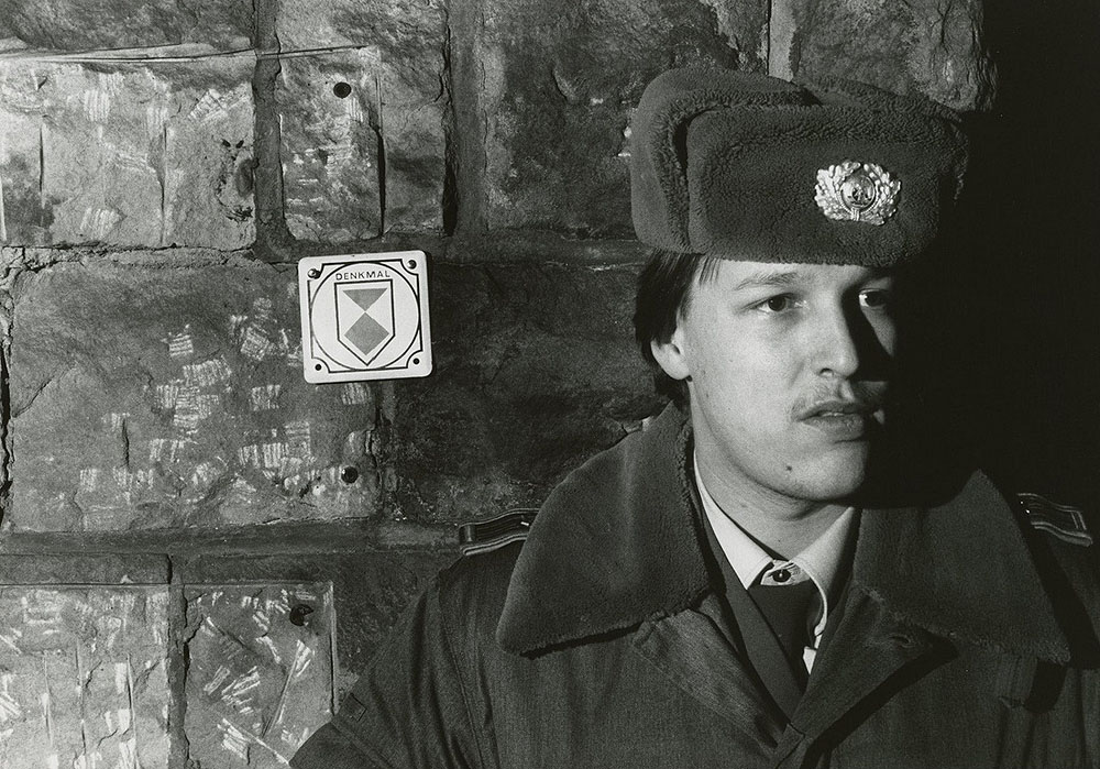 A Stasi guard poses for a photo in Dresden. Restricted to personal, non-commercial use only. For permission to publish, contact Special Collections & Archives, George Mason University Libraries, speccoll@gmu.edu.