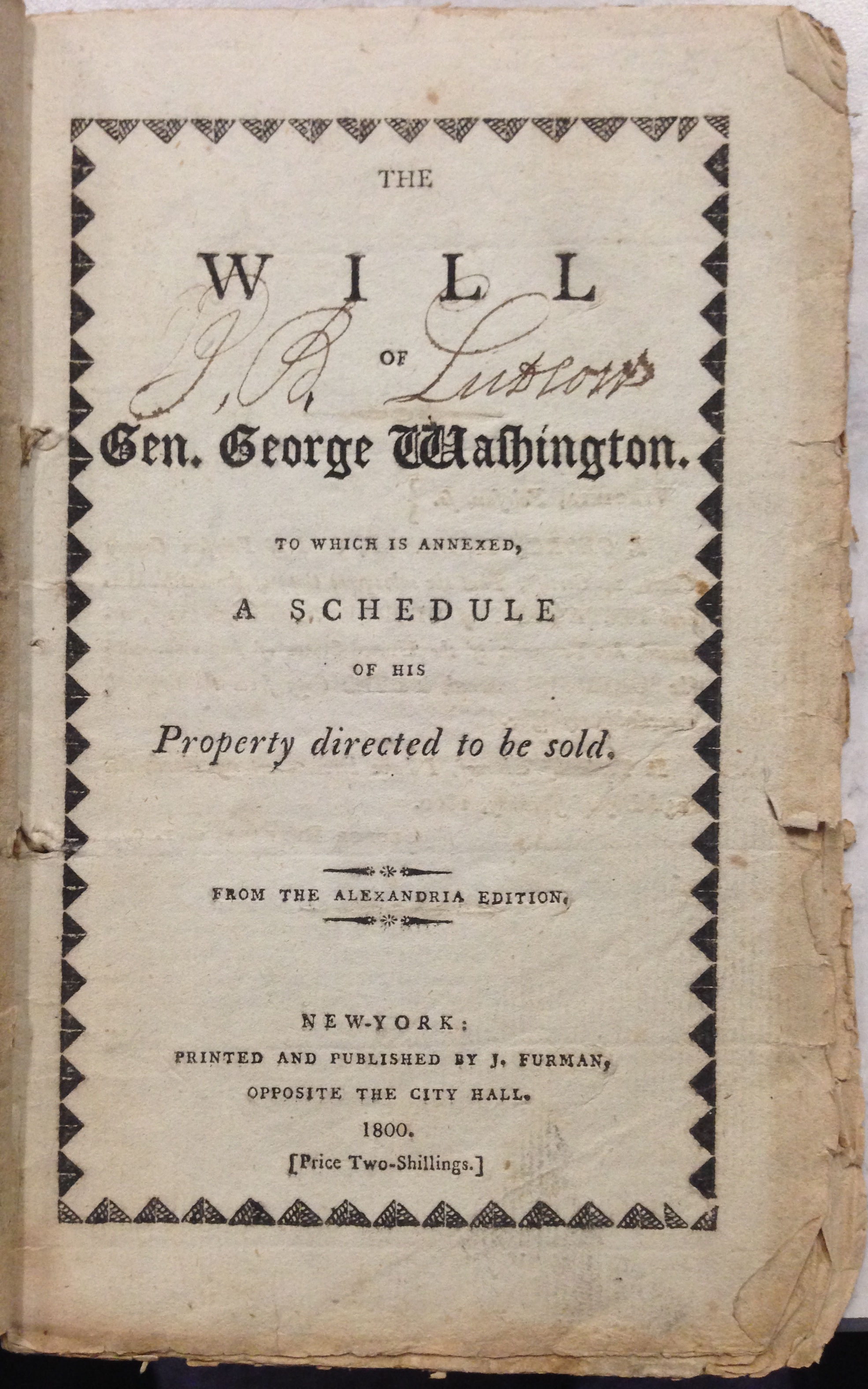 george washington s last will and testament available in sc a vault217. Black Bedroom Furniture Sets. Home Design Ideas
