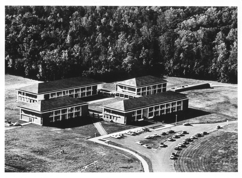 Fairfax Campus, Spring 1965. George Mason University Photograph Collection # R0120 Box 1, Folder 11. Special Collections & Archives, George Mason University Libraries.