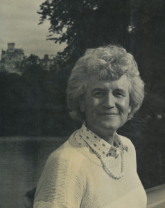 Jan Morris, as photographed in 1974.