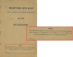 Doc. 2 is a booklet containing information and diagrams of British reception sets. Document is from John Patrick Hawker papers, Collection #C0275, Box 03, Folder 02, Special Collections Research Center, George Mason University Libraries.