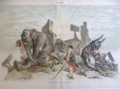 19th Century Civil War and Political Cartoon Lithograph, #C0285, Special Collections Research Center, George Mason University Libraries.