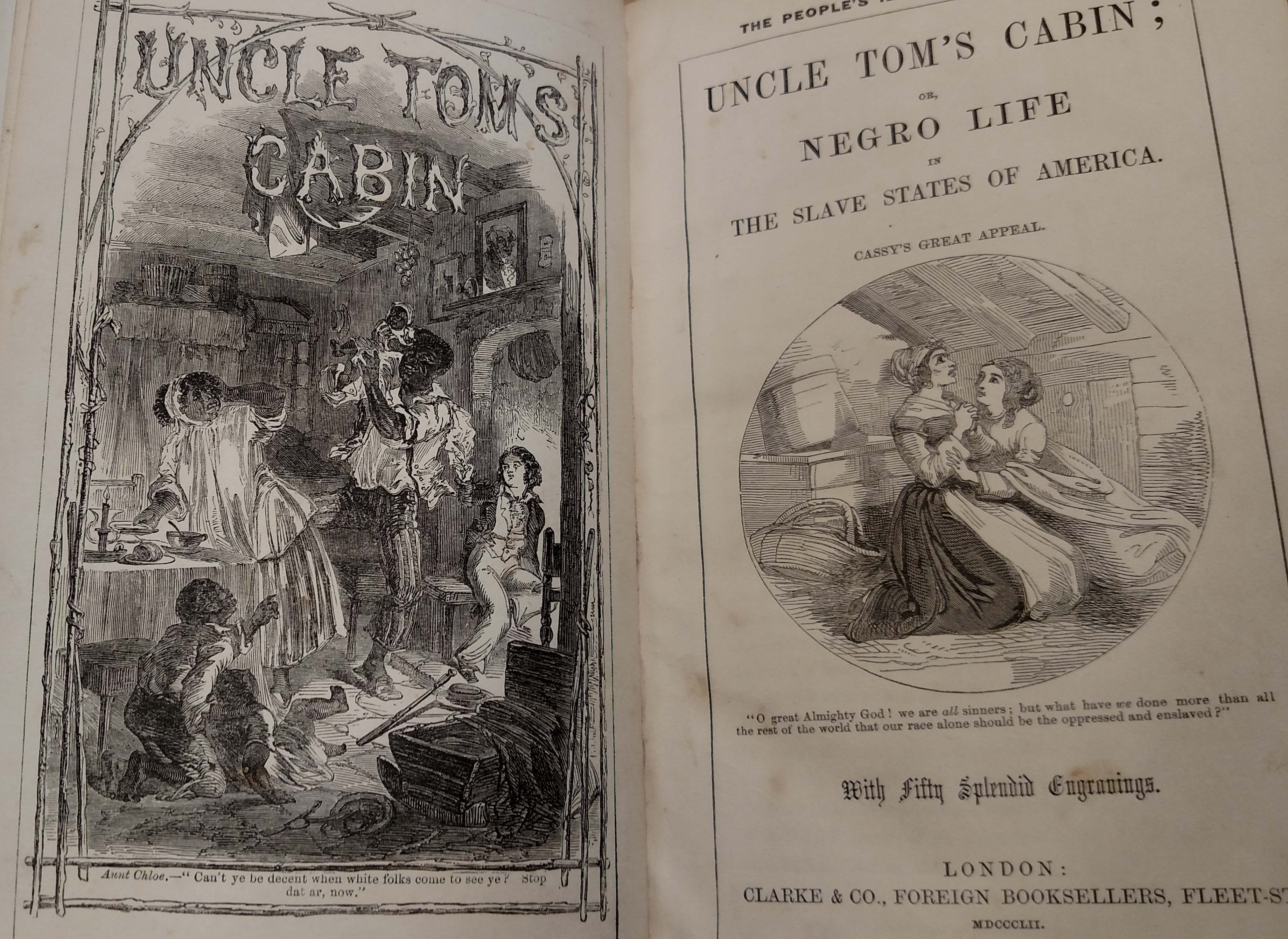 Frontispiece from the 1852 illustrated edition of Uncle Tom's Cabin