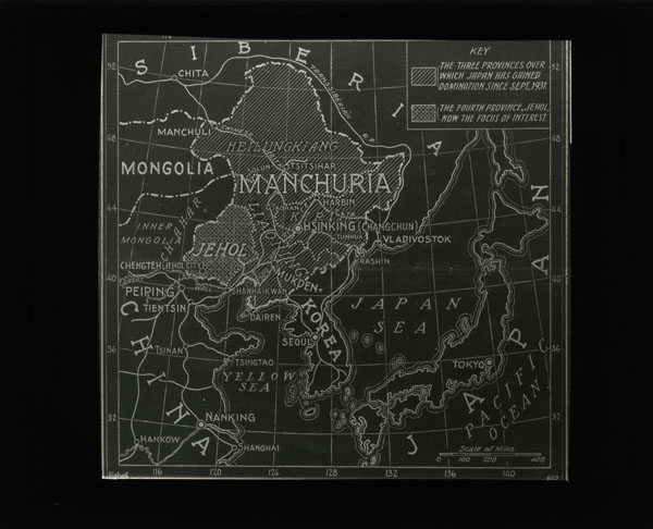 Map of China. Japanese invasion of Manchuria photograph collection # C0200, Box 1, Folder 14. Special Collections Research Center. George Mason University.