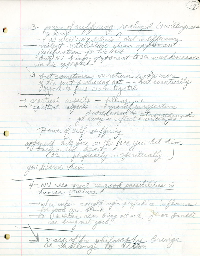 Civil Rights Notebook-Atlanta Sit-In, page 19. James H. Laue papers, Collection #C0055, Box 53, Folder 02, Special Collections Research Center, George Mason University Libraries.